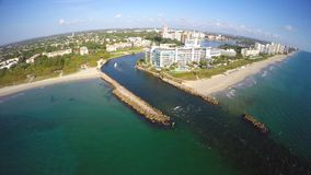 Aerial Boca Inlet Florida 13 stock video