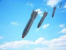 Aerial bomb and sky Stock Photo