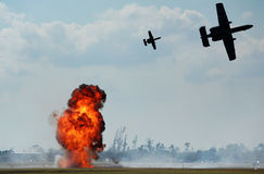 Aerial bombardment Stock Photos