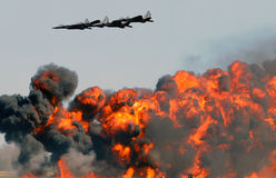 Aerial bombardment Royalty Free Stock Photo