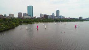 Aerial boston stock video footage