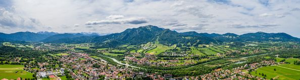 Free Aerial Brauneck Lenggriess. Bavarian Alps. Ski Resort. Travel Destination June 2019 Royalty Free Stock Photos - 150645698