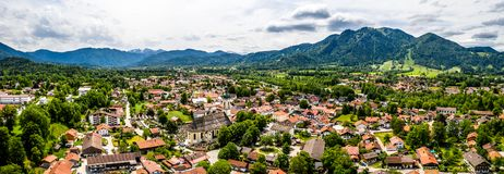 Free Aerial Brauneck Lenggriess. Bavarian Alps. Ski Resort. Travel Destination June 2019 Royalty Free Stock Image - 150658446