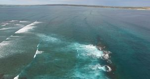 Aerial of breakers at Surf Point - Dirk Hartog Island, Shark Bay World Heritage Area