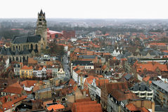Aerial of Bruges Royalty Free Stock Images