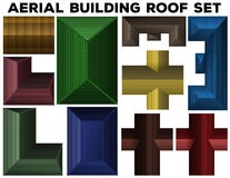 Aerial building roof set Stock Image