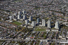 Aerial Burnaby, BC, Canada royalty free stock photography