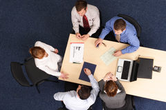 Aerial business meeting  Stock Photo