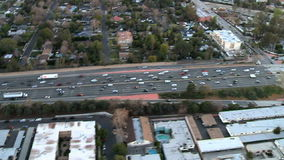 Aerial 101 California fly stock footage