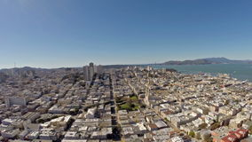 Aerial California San Francisco stock footage