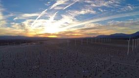 Aerial California Windmills. Aerial video of the windmills at sunrise in California stock video