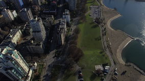 Aerial Canada Vancouver BC. Aerial video of downtown Vancouver BC in Canada stock video