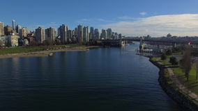 Aerial Canada Vancouver BC. Aerial video of downtown Vancouver BC in Canada stock video footage