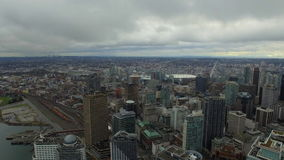 Aerial Canada Vancouver BC. Aerial video of downtown Vancouver BC in Canada on an overcast day stock footage