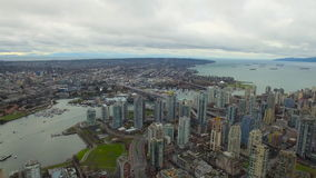 Aerial Canada Vancouver BC stock video footage