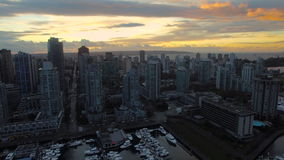 Aerial Canada Vancouver BC stock video