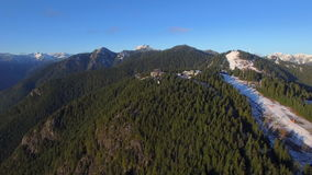Aerial Canada Vancouver BC. Aerial video of Grouse Mountain in Vancouver BC, Canada stock video footage