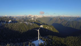 Aerial Canada Vancouver BC. Aerial video of Grouse Mountain in Vancouver BC, Canada stock video
