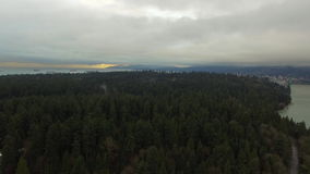 Aerial Canada Vancouver BC. Aerial video of Lions Gate Bridge in Vancouver BC, Canada stock video