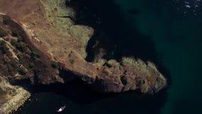 AERIAL. Cape Fiolent Cliff Fantastic View, Crimea stock footage