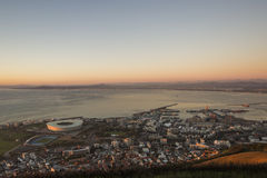 Aerial of Capetown greenpoint south africa Stock Photo