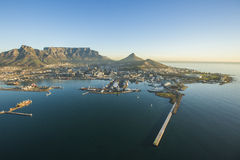 Aerial of Capetown Table Mountain south africa Royalty Free Stock Photos