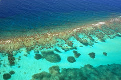 Aerial of Caribbean Coral Reef Royalty Free Stock Image