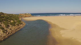 Aerial from Carrapateira beach in Portugal stock video