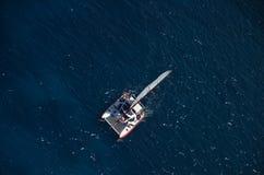 Aerial Catamaran stock image