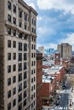 Aerial of center city west in philadelphia pennsylvania during s. Pring Royalty Free Stock Images