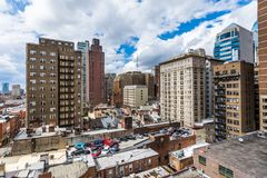 Aerial of center city west in philadelphia pennsylvania during s. Pring Stock Images