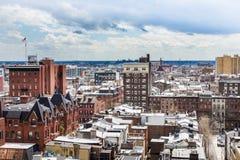 Aerial of center city west in philadelphia pennsylvania during s. Pring Stock Photos