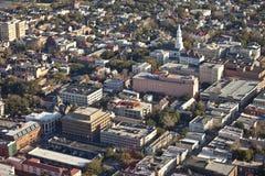 Aerial charleston. Aerial view of city of charleston south carolina Stock Image