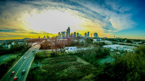 Aerial of charlotte north carolina skyline Royalty Free Stock Images