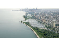 Aerial of Chicago royalty free stock photos