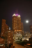 aerial chicago night view Στοκ φωτογραφία με δικαίωμα ελεύθερης χρήσης