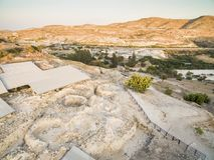Aerial Choirokoitia, Larnaca, Cyprus Stock Photography