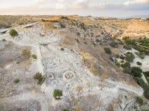Aerial Choirokoitia, Larnaca, Cyprus Stock Photo