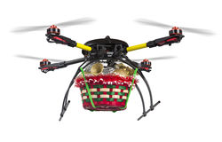 Aerial Christmas Delivery Royalty Free Stock Images