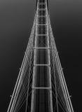 Aerial - Cincinnati Roebling Bridge Royalty Free Stock Images