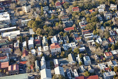 Aerial city. Aerial view of old city of charleston south carolina Royalty Free Stock Image