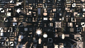 Aerial City Buildings (HD Loop)