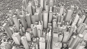 Aerial city Royalty Free Stock Images
