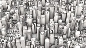 Aerial city Stock Photo