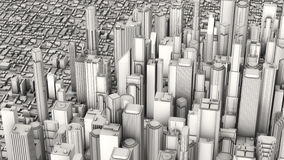 Aerial city Royalty Free Stock Photography