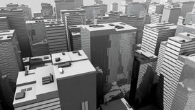 Aerial city flight vector illustration
