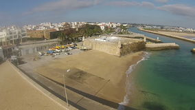 Aerial from the city Lagos Algarve Portugal stock footage