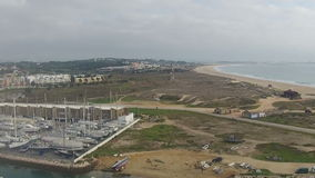 Aerial from the city Lagos in Portugal stock video footage