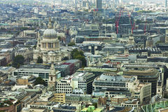 Aerial City of London cityscape Royalty Free Stock Images