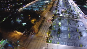 Aerial city at night stock video